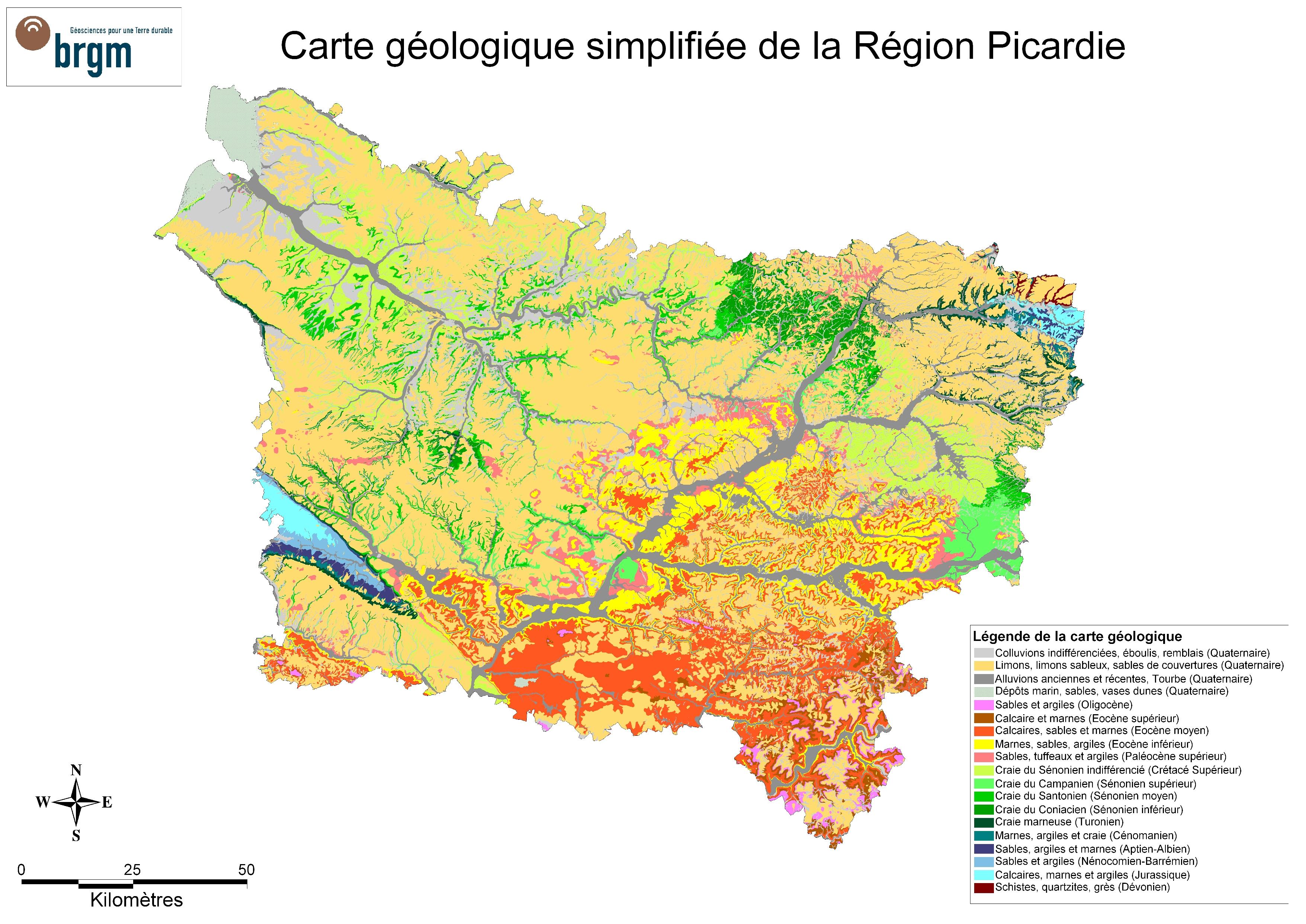 Lithothèque > Les sites géologiques en Picardie   Sciences de la Vie et de la Terre - Académie d ...